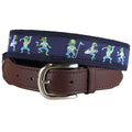 Belted Cow - Golfing Frogs Leather Tab Belt
