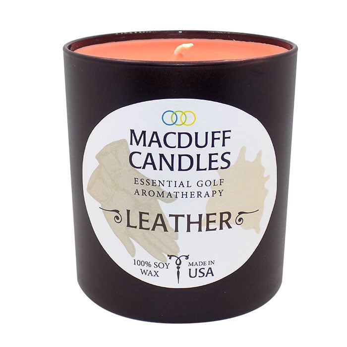 Macduff Candles - Leather - Black Glass