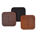 William & James - Leather Coaster Set of 4