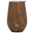 Simple|Modern - Wine Tumbler - 12oz - Wood Grain
