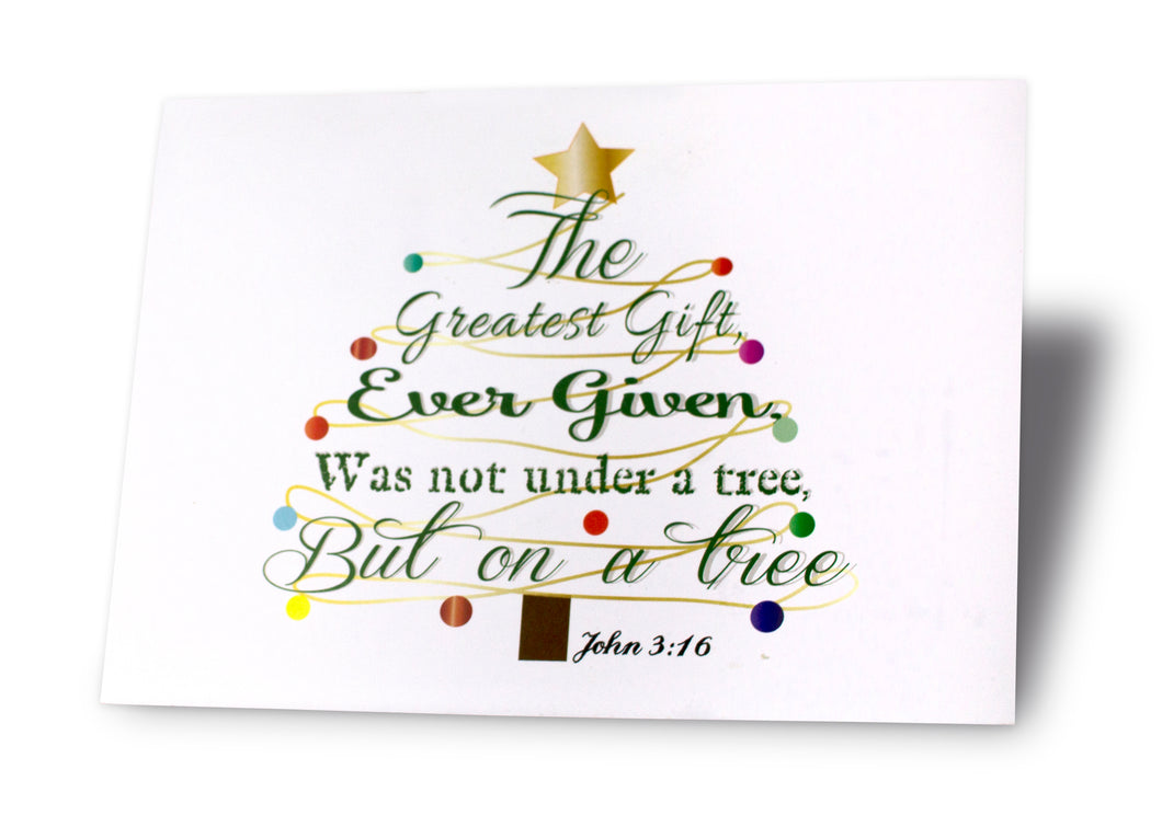The Gift (John 3:16) Christmas Card Packet – The Haymaker Family Sales