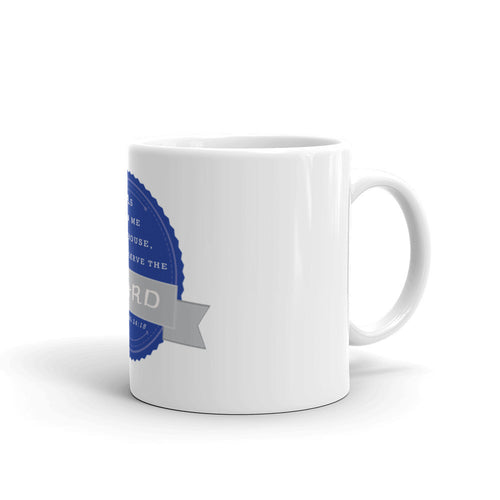 Mug - Joshua 24:15 - Blue Grey