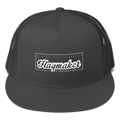 Mesh Back Snapback- Haymaker Family Sales Logo Cap - Black/White