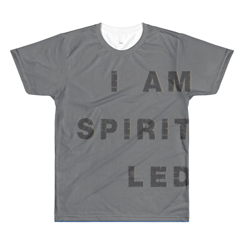 Sublimation men's crewneck t-shirt - I Am Spirit Led