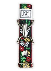 "Edelweiss adjustable belt with 1.5"" silver clip buckle by KF Clothing"