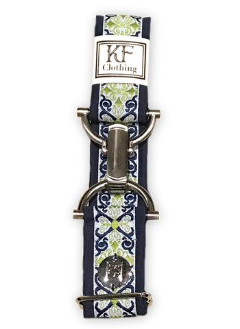 "Royal renaissance adjustable belt with 1.5"" silver clip buckle by KF Clothing"