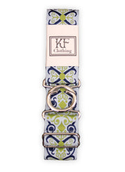 "Royal renaissance adjustable belt with 1.5"" silver interlocking buckle by KF Clothing"