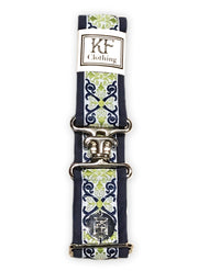 "Royal renaissance adjustable belt with 1.5"" silver surcingle buckle by KF Clothing"