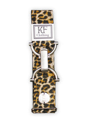 "Cheetah adjustable belt with 1.5"" silver clip clasp by KF Clothing"