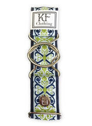 "Royal renaissance adjustable belt with 2"" silver interlocking buckle by KF Clothing"