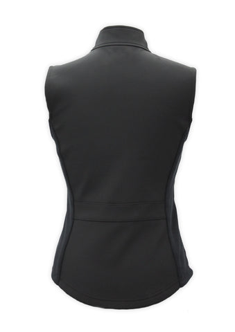 Soft shell vest black by KF Clothing back view