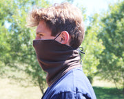 Reversible Gaiter face mask with nose wire and ear loops
