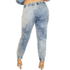 Stone Wash Blue Denim Pants