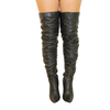 Ruched Black Over the Knee Boots