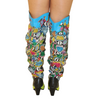 Multi-Color Snakeskin  Cowboy Knee Boots