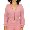 Pink Three Piece Shimmer Tracksuit