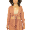Tan Wide Legged and Crop Top Set
