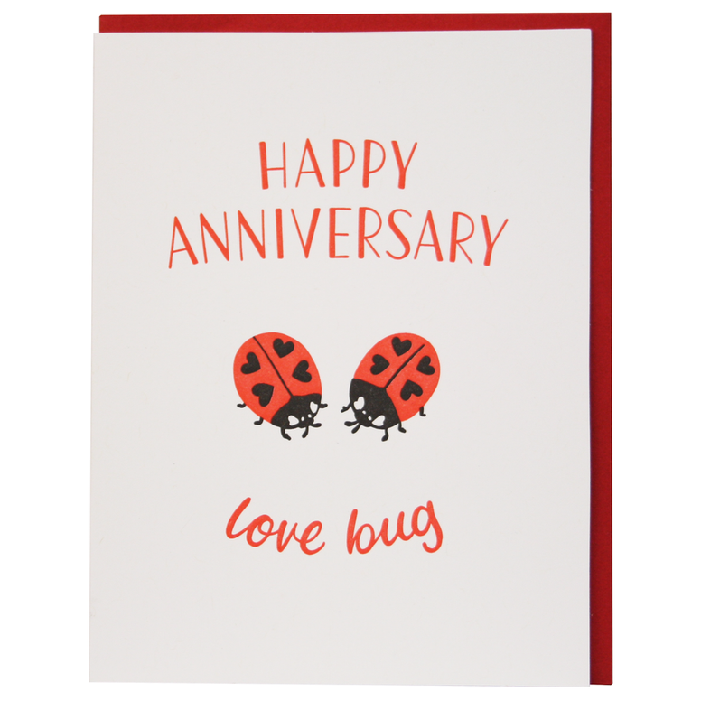 Smudge Ink - Little Ladybugs Anniversary Card