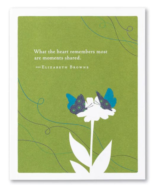 Sympathy Card - What the heart
