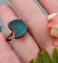 Turquoise Teal Sea Glass Ring