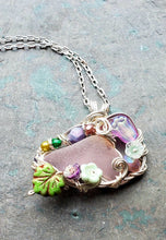 Mermaids at Springtide Sea Glass Pendant no. 6