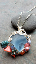 Mermaids at Springtide Sea Glass Pendant no. 4