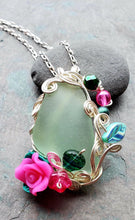 Mermaids at Springtide Sea Glass Pendant no. 1