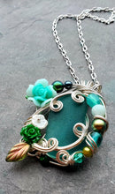 Mermaids at Springtide Sea Glass Pendant no. 9