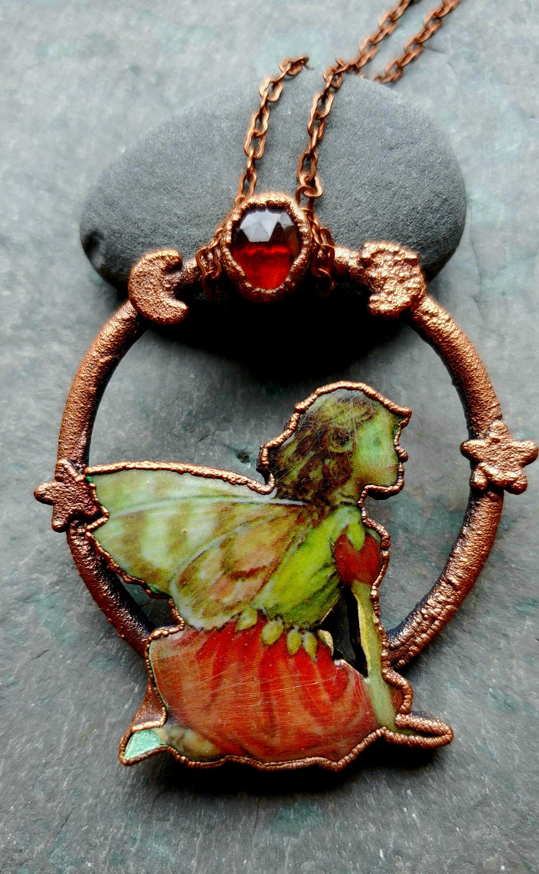 The Geranium Fairy Pendant