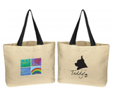 "Canvas Tote Bag ""Art by Teddy"""