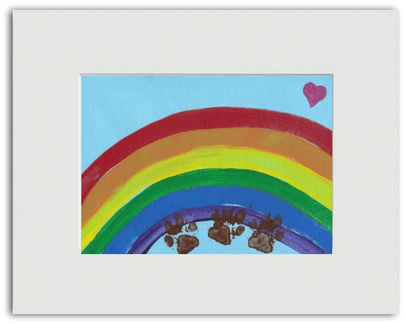 "Ready-to-Frame Print ""Somewhere Over The Rainbow"" - Art by Teddy"