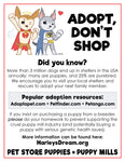 Adopt, Don't Shop - Mini-Flyers (100 pack)