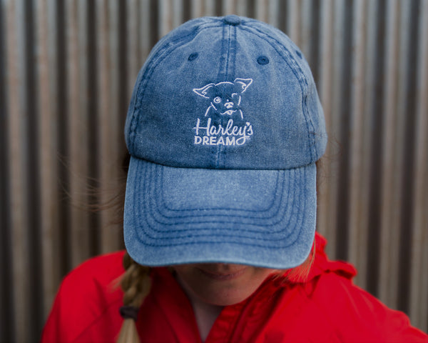 Cotton (Denim Blue) Cap - Harley's Dream