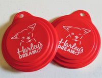 Pet Food Can Lids (set of 2) - Harley's Dream
