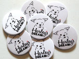 Harley's Dream Logo Buttons (2 pack)