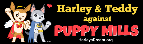 Bumper Sticker - Harley & Teddy Against Puppy Mills