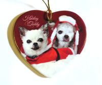 Ceramic 'Harley & Teddy' Heart Ornament