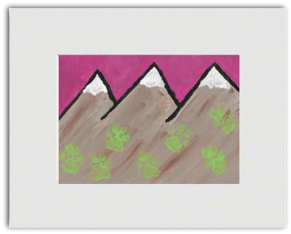 "Ready-to-Frame Print ""Toes in the Mountains"" - Art by Teddy"