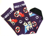 "Harley & Teddy Socks ""NO Puppy Mills"" - Purple"