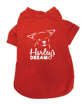 Doggie T-Shirt (Red) - Harley's Dream