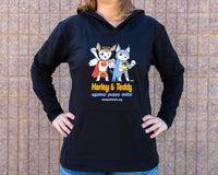 French Hoodie (Ladies) - Superheroes Against Puppy Mills
