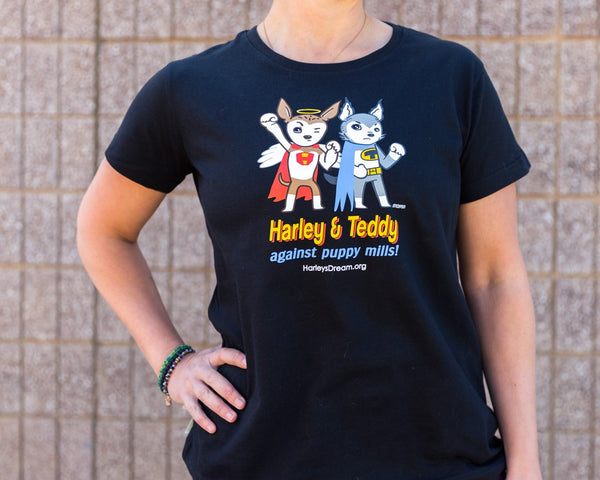 T-Shirt (Ladies) - Superheroes Against Puppy Mills