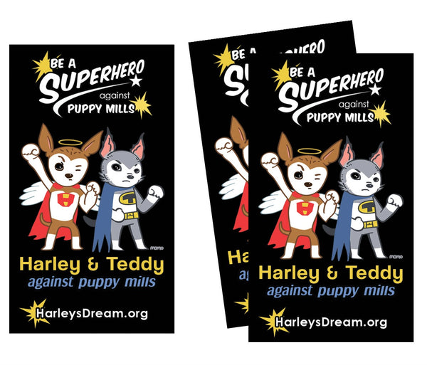 Stickers (50 pack) - Superheroes Against Puppy Mills