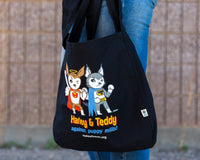 Market Bag (Tote) - Superheroes Against Puppy Mills