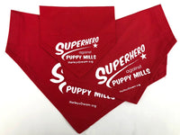 Doggie Collar Scarf (Cape-Style) - Superhero Against Puppy Mills