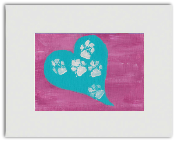 "Ready-to-Frame Print ""Toes in a Heart"" - Art by Teddy"