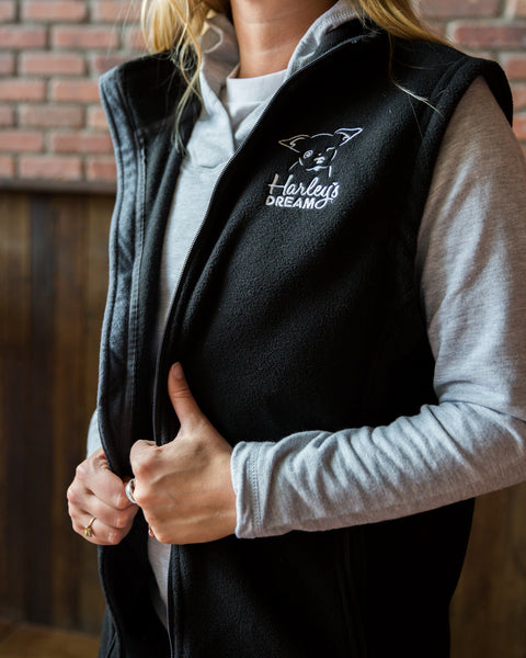 Fleece Vest - Black - Harley's Dream