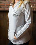 French Hoodie (Ladies, Gray) - Harley's Dream