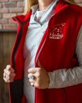 Fleece Vest (Ladies) - Red - Harley's Dream