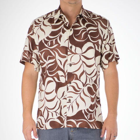 DANCING LEAVES MODERN FIT ALOHA SHIRT